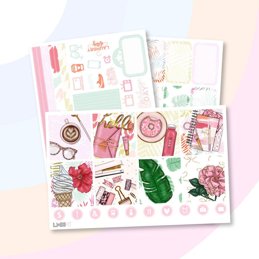 Boss Planner Sticker Kit (Horizontal) - Grab these stickers for your planner and let's get to it! - Let's Make It Sparkle