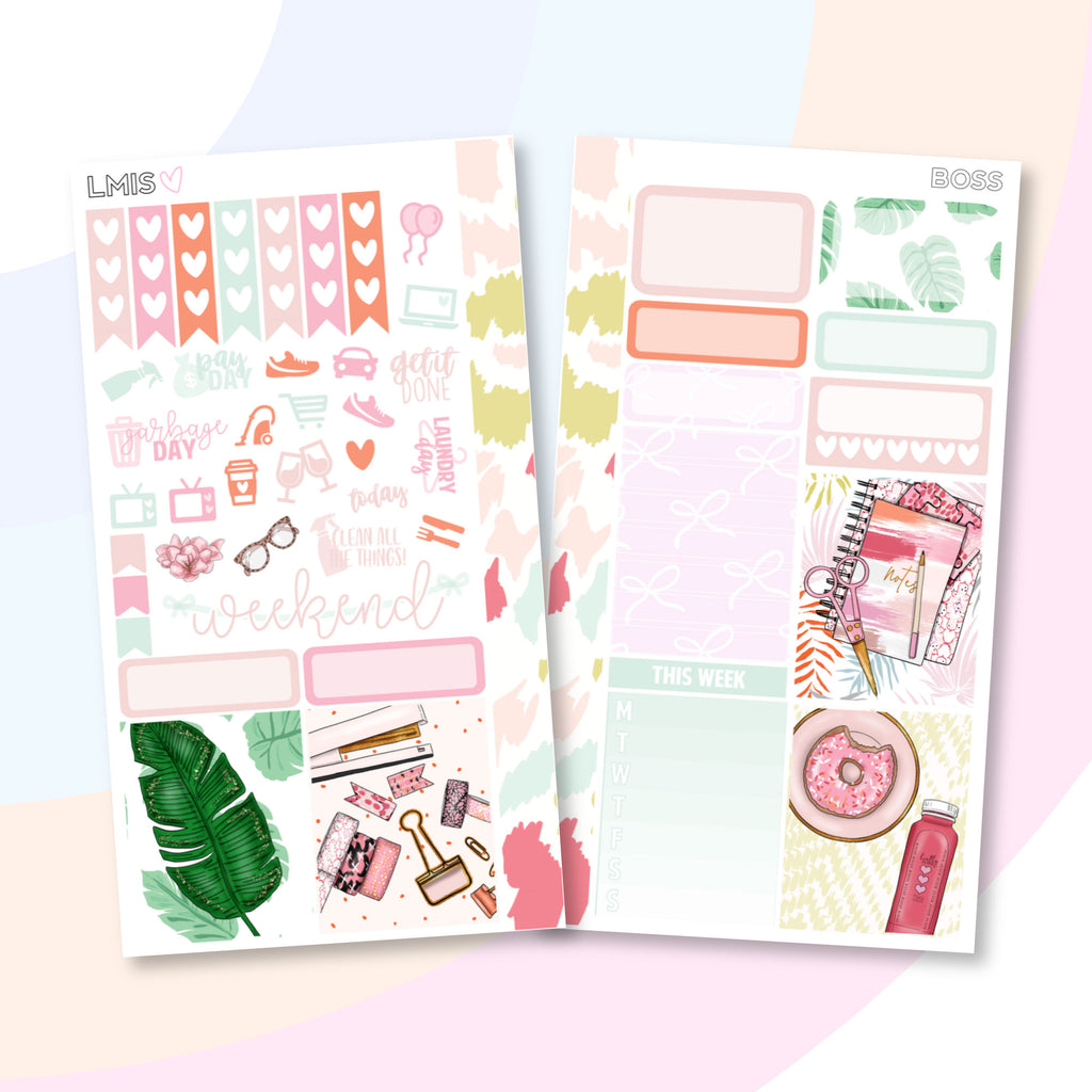 Boss Personal Planner Sticker Kit for Traveler's Notebooks, TNs and Personal Planners - Grab these stickers for your planner and let's get to it! - Let's Make It Sparkle