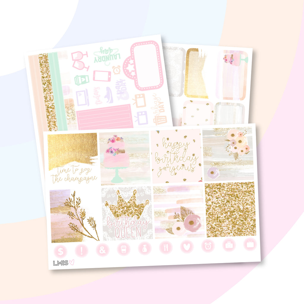 Cake Planner Sticker Kit (Horizontal) - Grab these stickers for your planner and let's get to it! - Let's Make It Sparkle