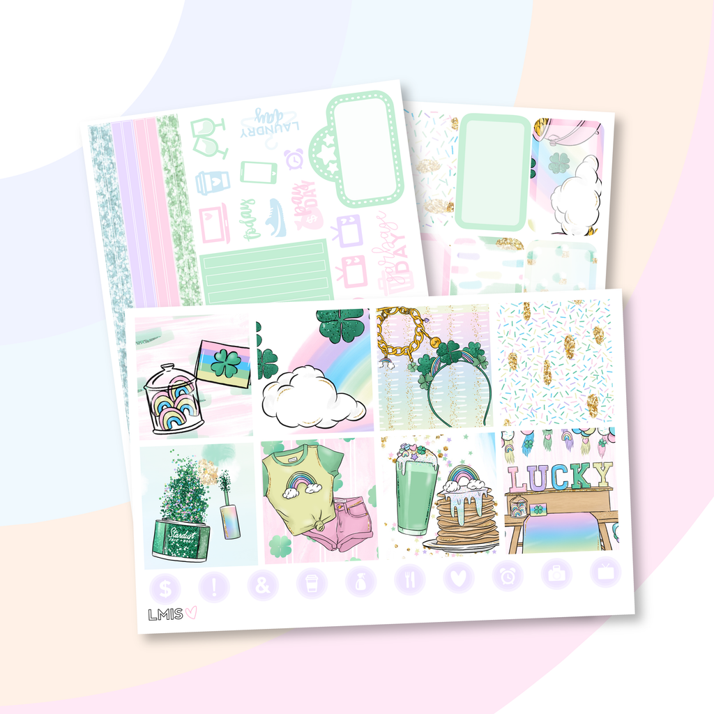 Charmed Planner Sticker Kit (Horizontal) // St. Patrick's Day Sticker Kit