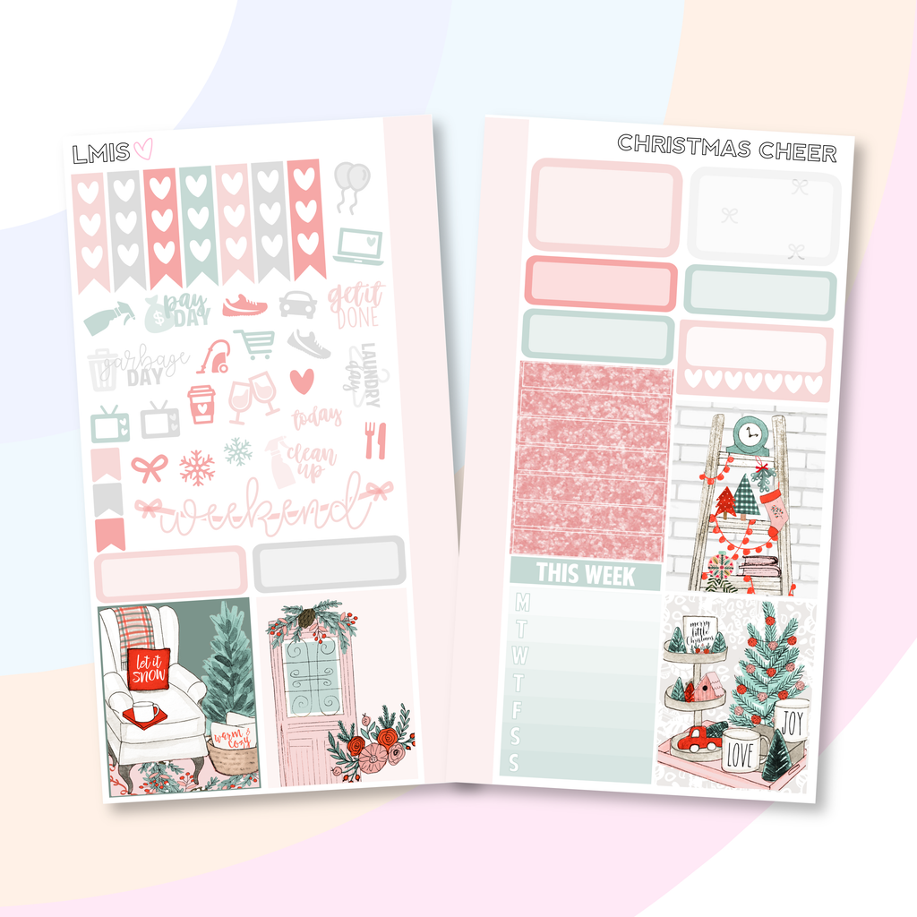 Christmas Cheer Personal Planner Sticker Kit for Traveler's Notebooks, TNs and Personal Planners - Grab these stickers for your planner and let's get to it! - Let's Make It Sparkle