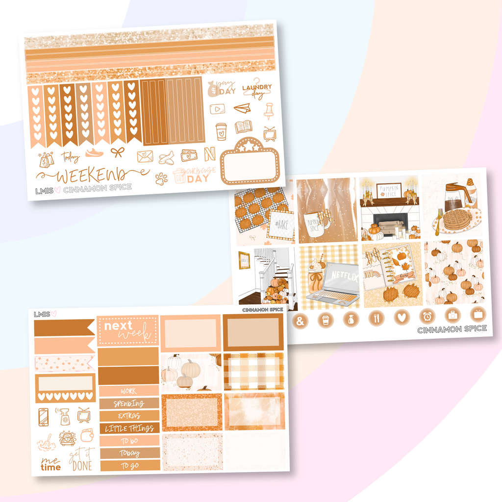 Cinnamon Spice Sticker Kit (Horizontal), Fall Stickers