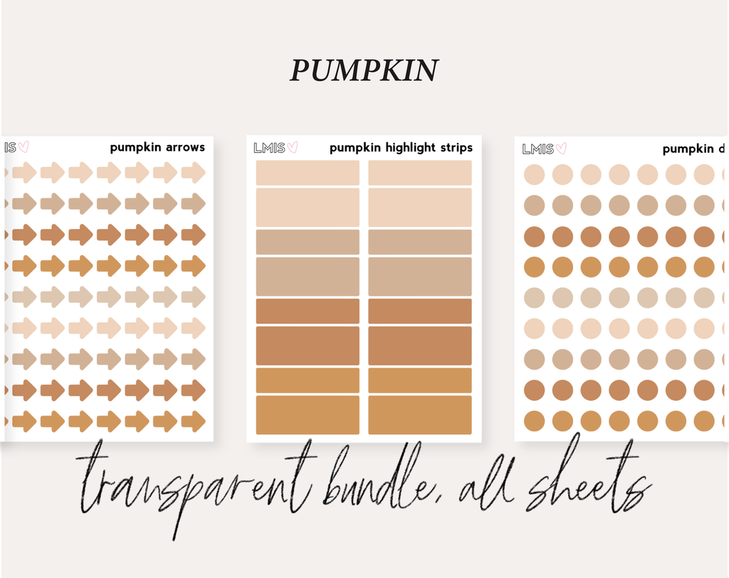 Pumpkin Full Transparent Sticker Collection