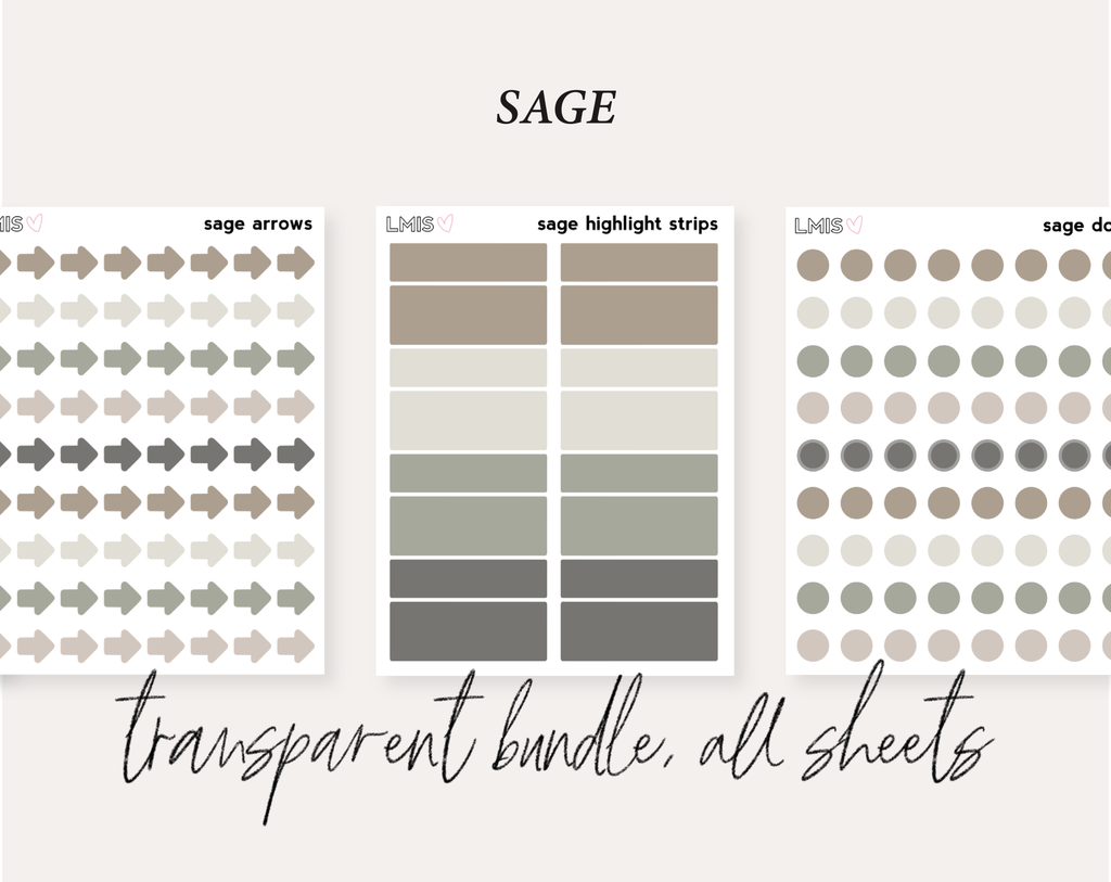 Sage Full Transparent Sticker Collection
