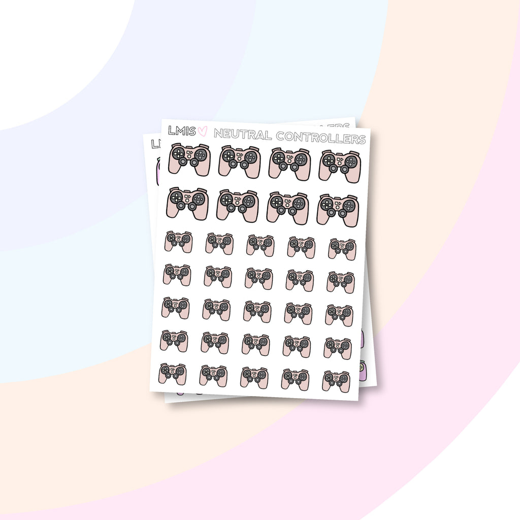 Game Controller Planner Stickers - Grab these stickers for your planner and let's get to it! - Let's Make It Sparkle