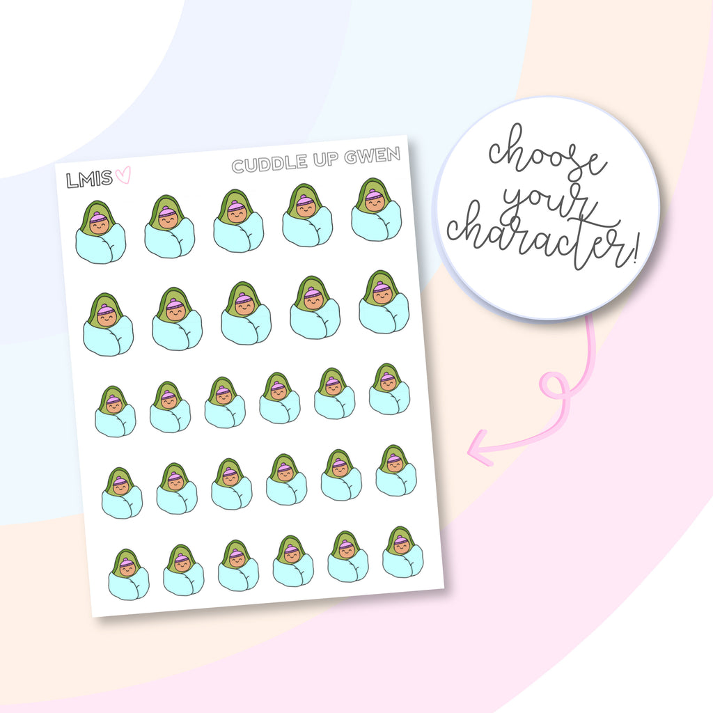 Cuddle Up/Cozy AvoBabes Planner Stickers - Grab these stickers for your planner and let's get to it! - Let's Make It Sparkle