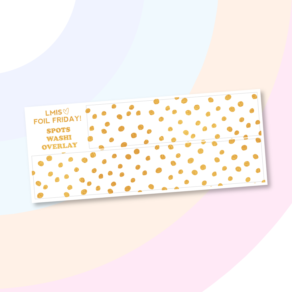 Foil Clear Spots Bottom Washi Overlay Stickers - Grab these stickers for your planner and let's get to it! - Let's Make It Sparkle