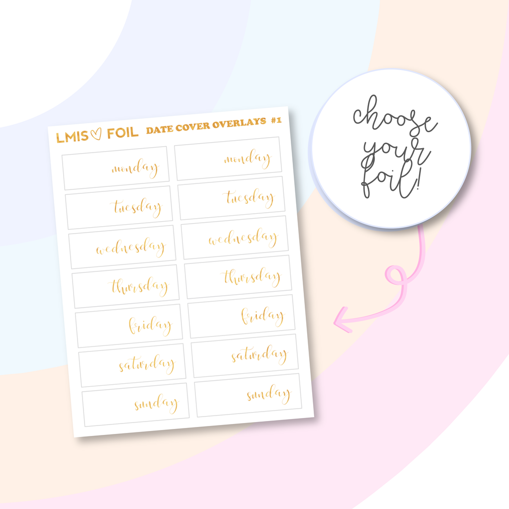 Date Cover Overlay Stickers // V1