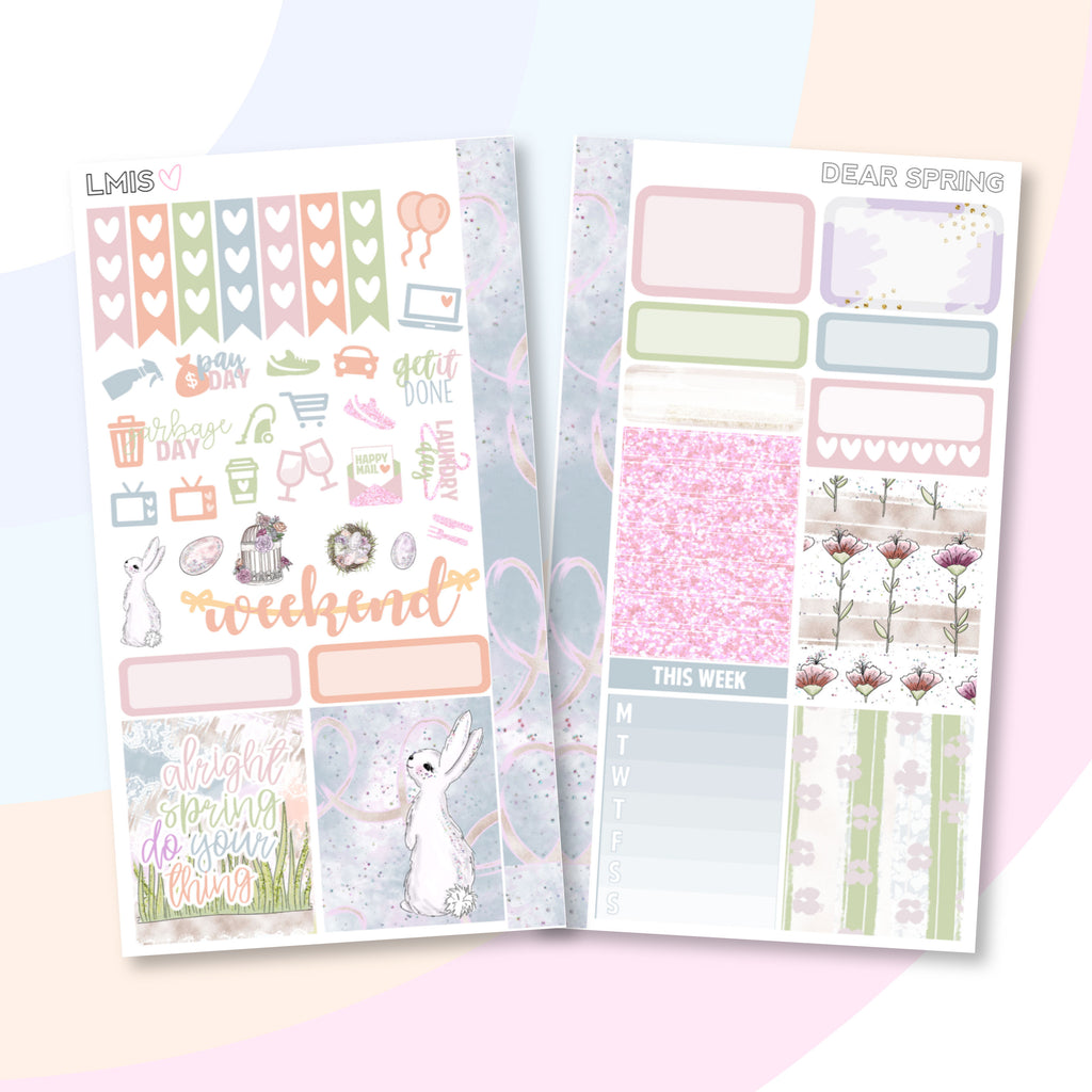 Dear Spring Personal Planner Sticker - Grab these stickers for your planner and let's get to it! - Let's Make It Sparkle