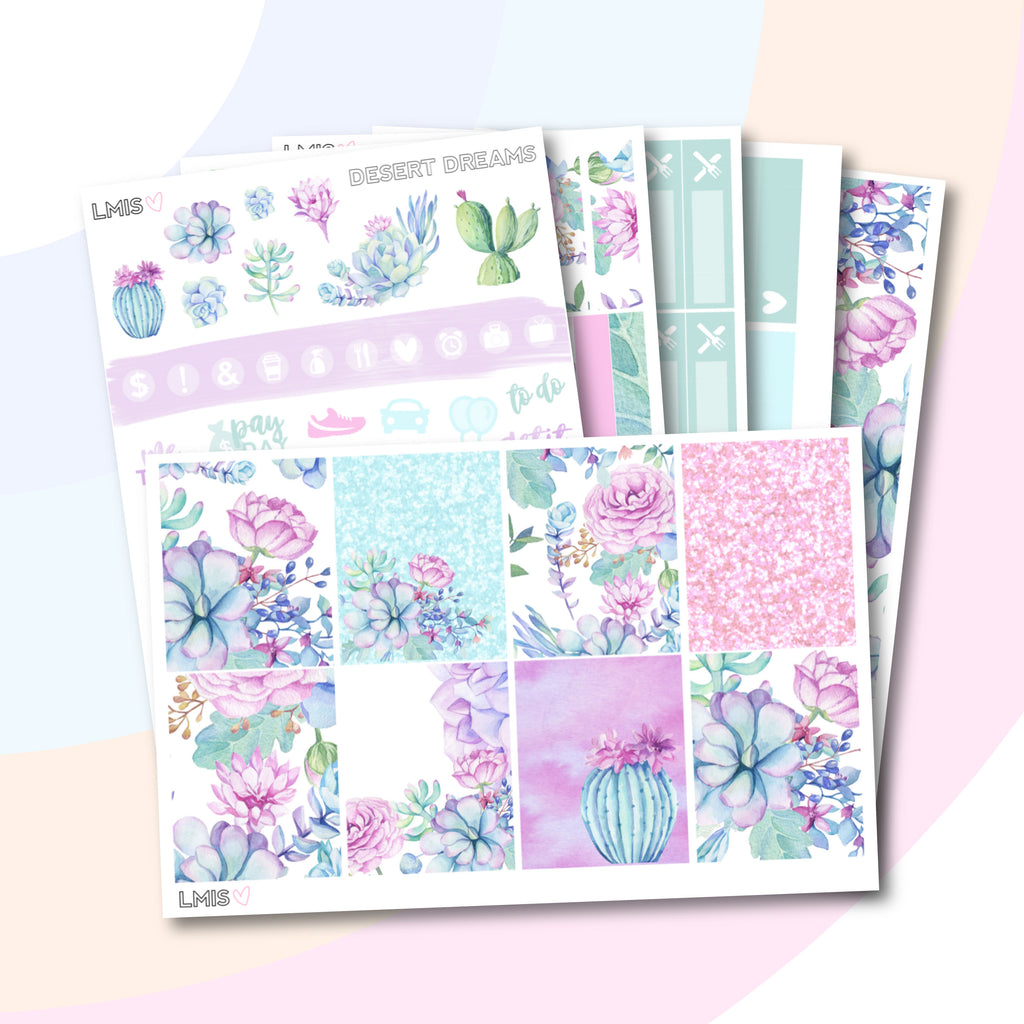 Desert Dreams Planner Sticker Kit (Vertical) - Grab these stickers for your planner and let's get to it! - Let's Make It Sparkle