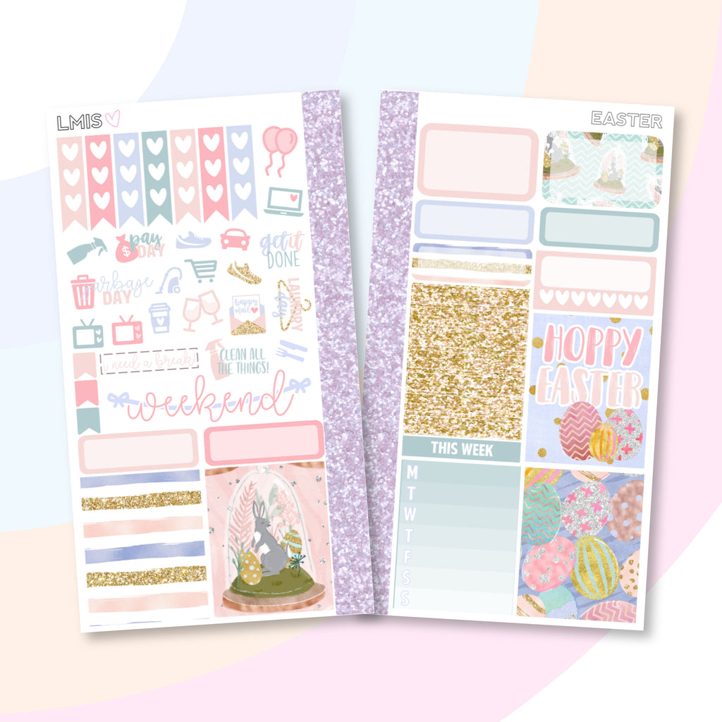 Easter Personal Planner Sticker Kit - Grab these stickers for your planner and let's get to it! - Let's Make It Sparkle