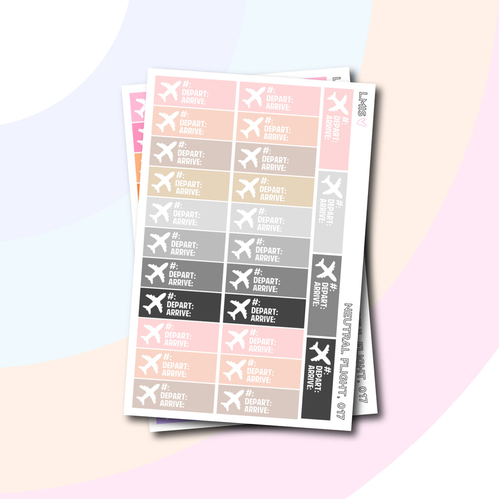 Flight Planner Stickers // 017 - Grab these stickers for your planner and let's get to it! - Let's Make It Sparkle