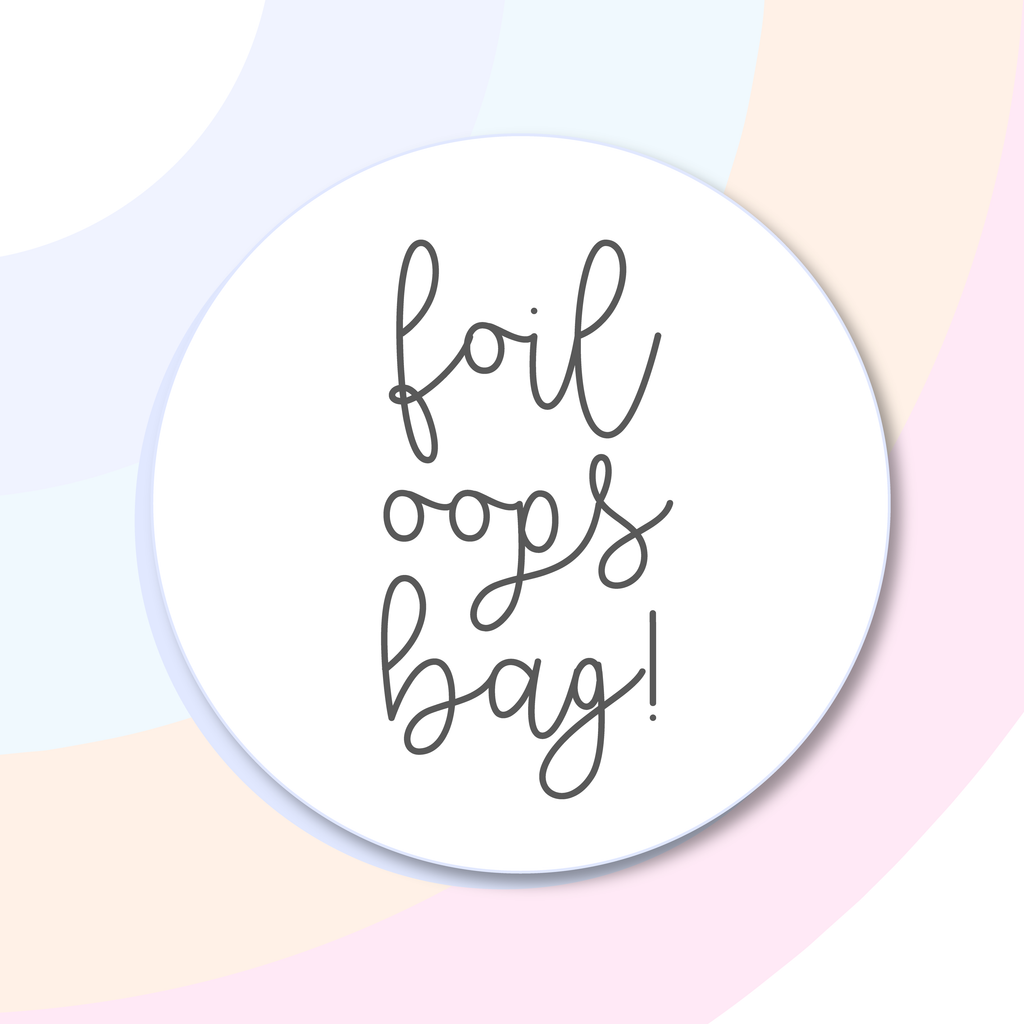 Foil Oops Bags! 3 Sheets of Foiled Misfit Stickers, Foil Stickers - Grab these stickers for your planner and let's get to it! - Let's Make It Sparkle