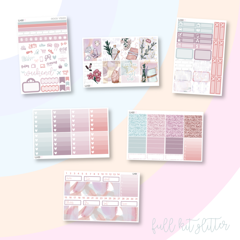 Good Vibes Vertical Planner Sticker Kit