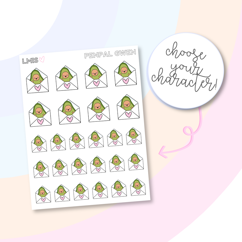Penpal AvoBabe Planner Stickers, AvoBabe Stickers - Grab these stickers for your planner and let's get to it! - Let's Make It Sparkle