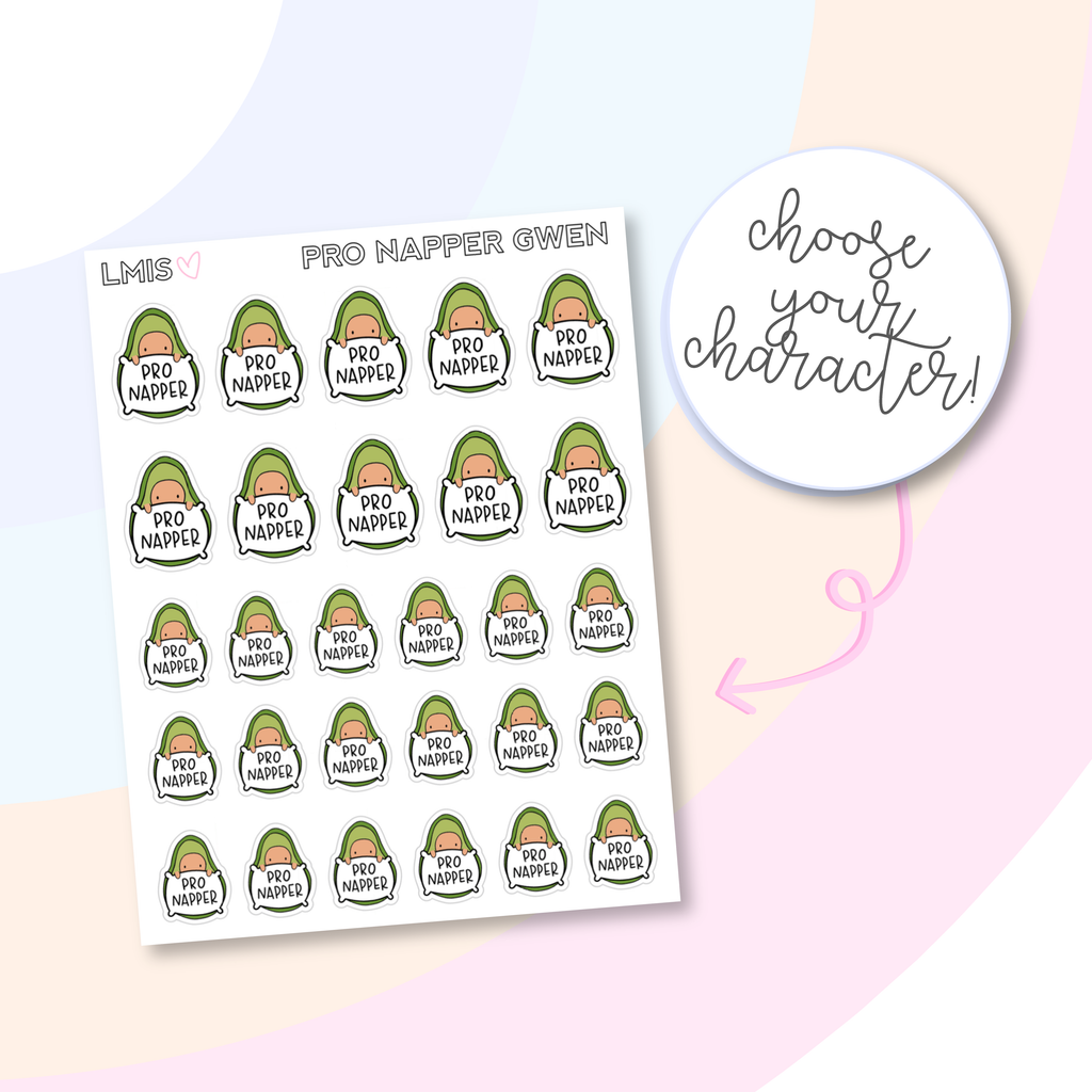 Pro Napper AvoBabe Planner Stickers, AvoBabe Stickers