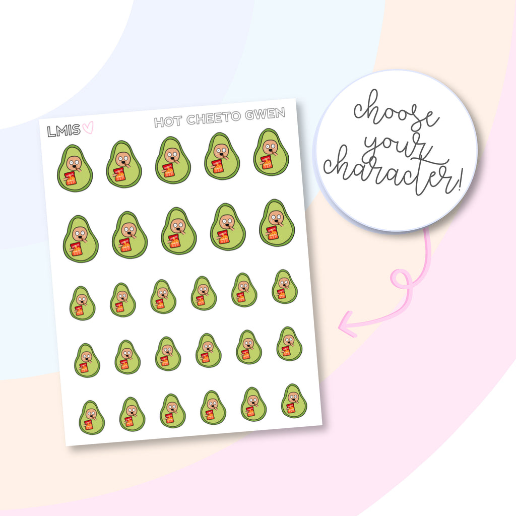 Cheetos AvoBabes Planner Stickers - Grab these stickers for your planner and let's get to it! - Let's Make It Sparkle