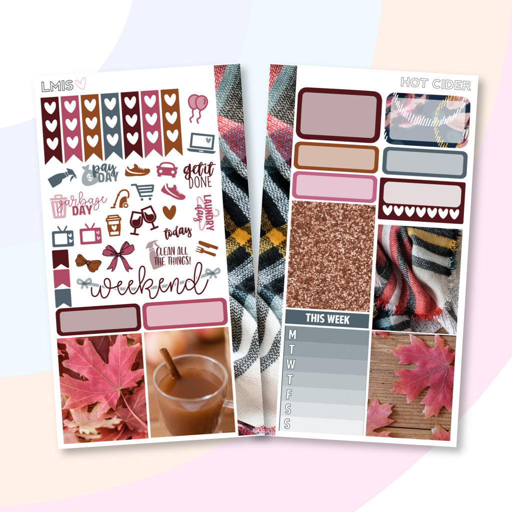 Hot Cider Personal Planner Sticker Kit for Traveler's Notebooks, TNs and Personal Planners, Autumn Personal Sticker Kit, Autumn Stickers - Grab these stickers for your planner and let's get to it! - Let's Make It Sparkle