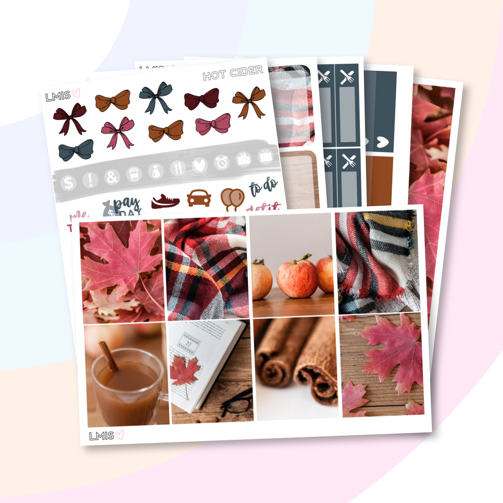 Hot Cider Vertical Planner Sticker Kit - Grab these stickers for your planner and let's get to it! - Let's Make It Sparkle