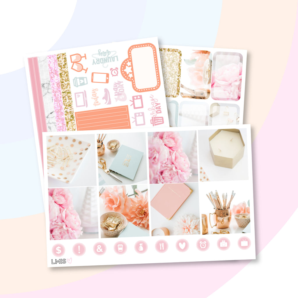 Hustle Harder Photo Planner Sticker Kit (Horizontal) - Grab these stickers for your planner and let's get to it! - Let's Make It Sparkle