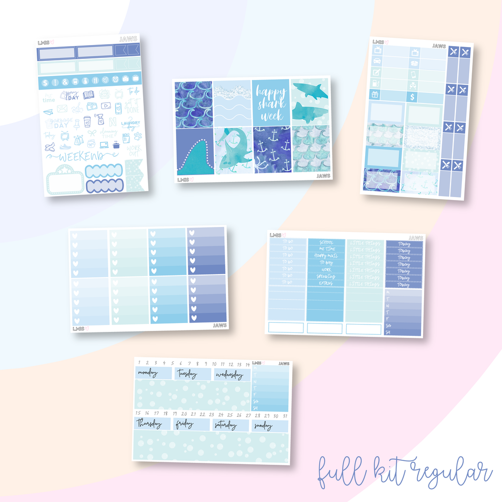 Jaws Vertical Planner Sticker Kit