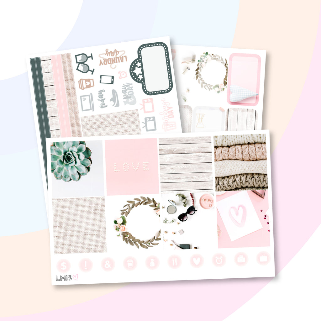 Livin' The Life Photo Planner Sticker Kit (Horizontal) - Grab these stickers for your planner and let's get to it! - Let's Make It Sparkle
