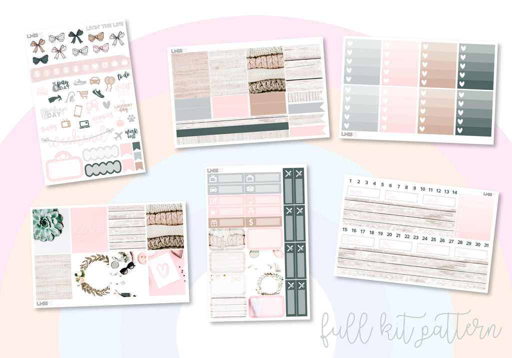 Livin' The Life Vertical Planner Sticker Kit - Grab these stickers for your planner and let's get to it! - Let's Make It Sparkle