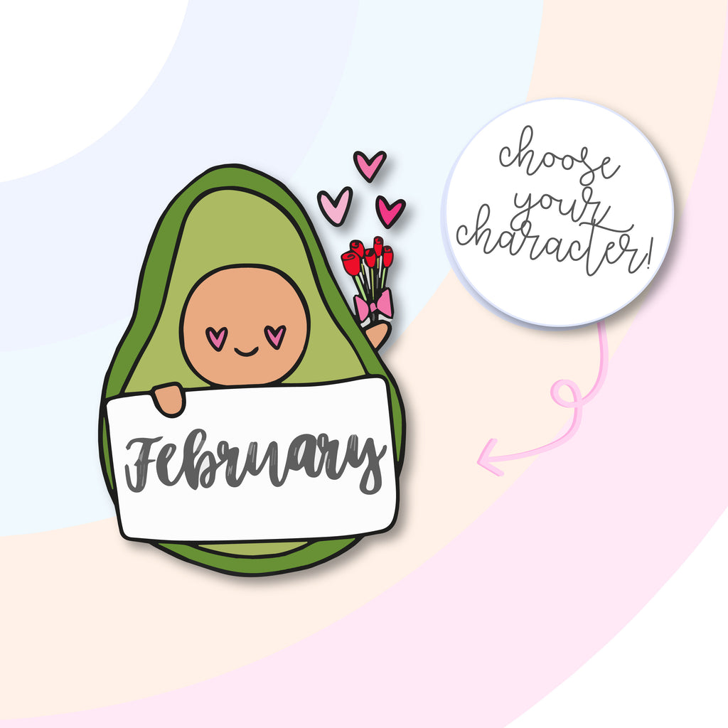 January-December AvoBabe Die Cuts - Grab these stickers for your planner and let's get to it! - Let's Make It Sparkle