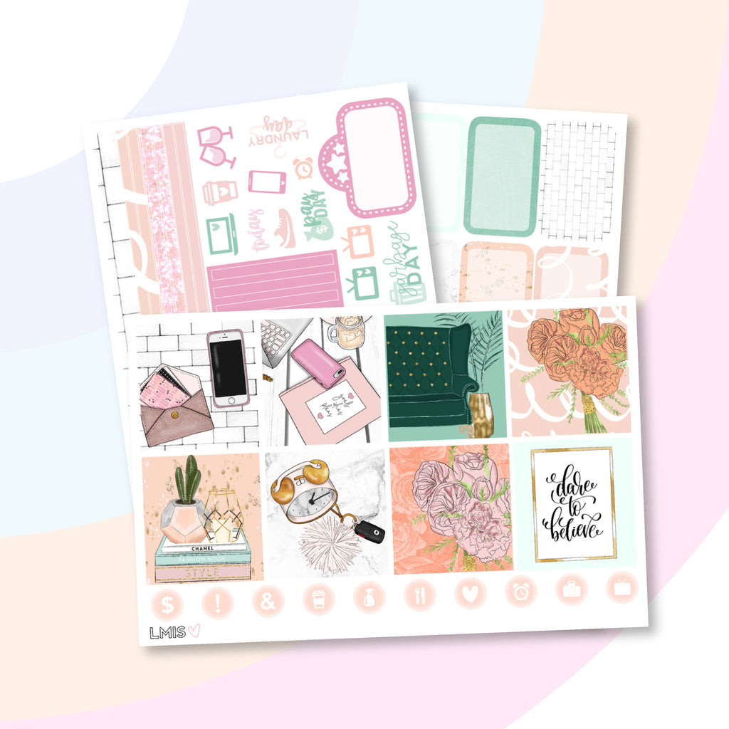 Out of Office Planner Sticker Kit (Horizontal) - Grab these stickers for your planner and let's get to it! - Let's Make It Sparkle