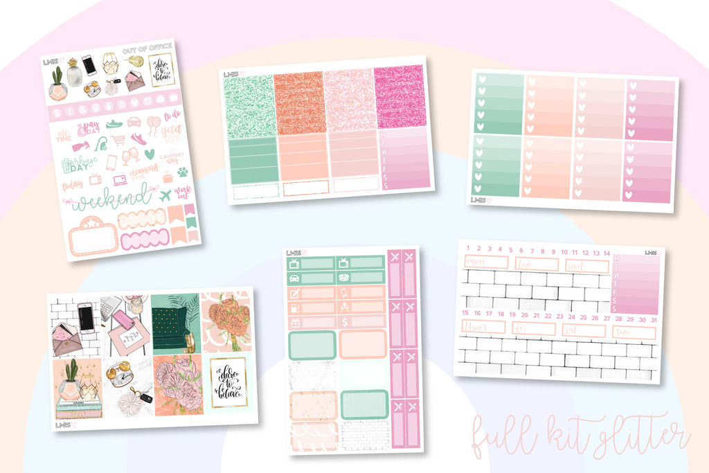 Out of Office Vertical Planner Sticker Kit - Grab these stickers for your planner and let's get to it! - Let's Make It Sparkle