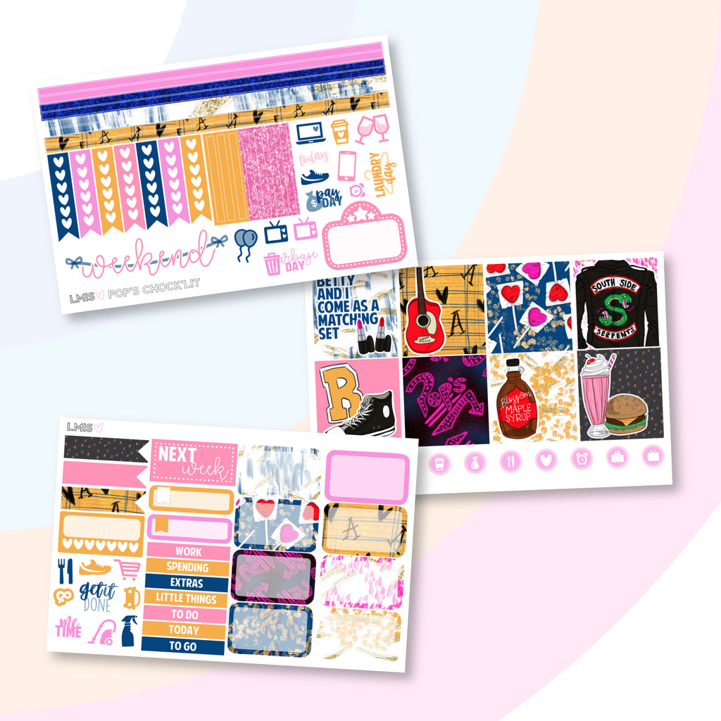 Pop's Chock'lit Horizontal Planner Sticker Kit, Riverdale Stickers - Grab these stickers for your planner and let's get to it! - Let's Make It Sparkle