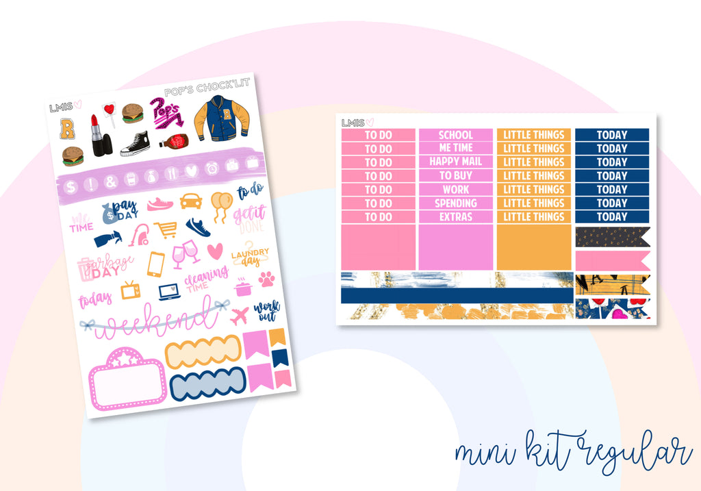 Pop's Chock'lit Vertical Planner Sticker Kit, Riverdale Stickers - Grab these stickers for your planner and let's get to it! - Let's Make It Sparkle
