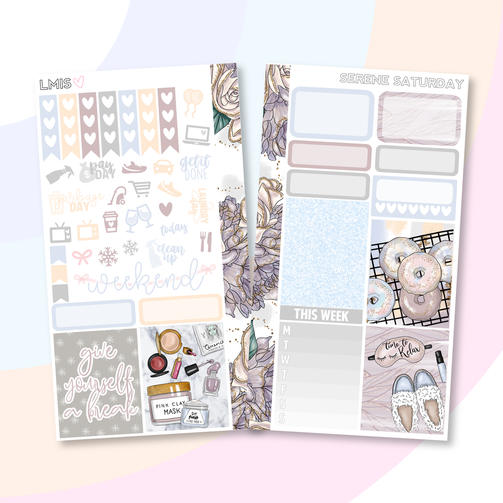 Serene Saturday Personal Planner Sticker Kit for Traveler's Notebooks, TNs and Personal Planners - Grab these stickers for your planner and let's get to it! - Let's Make It Sparkle