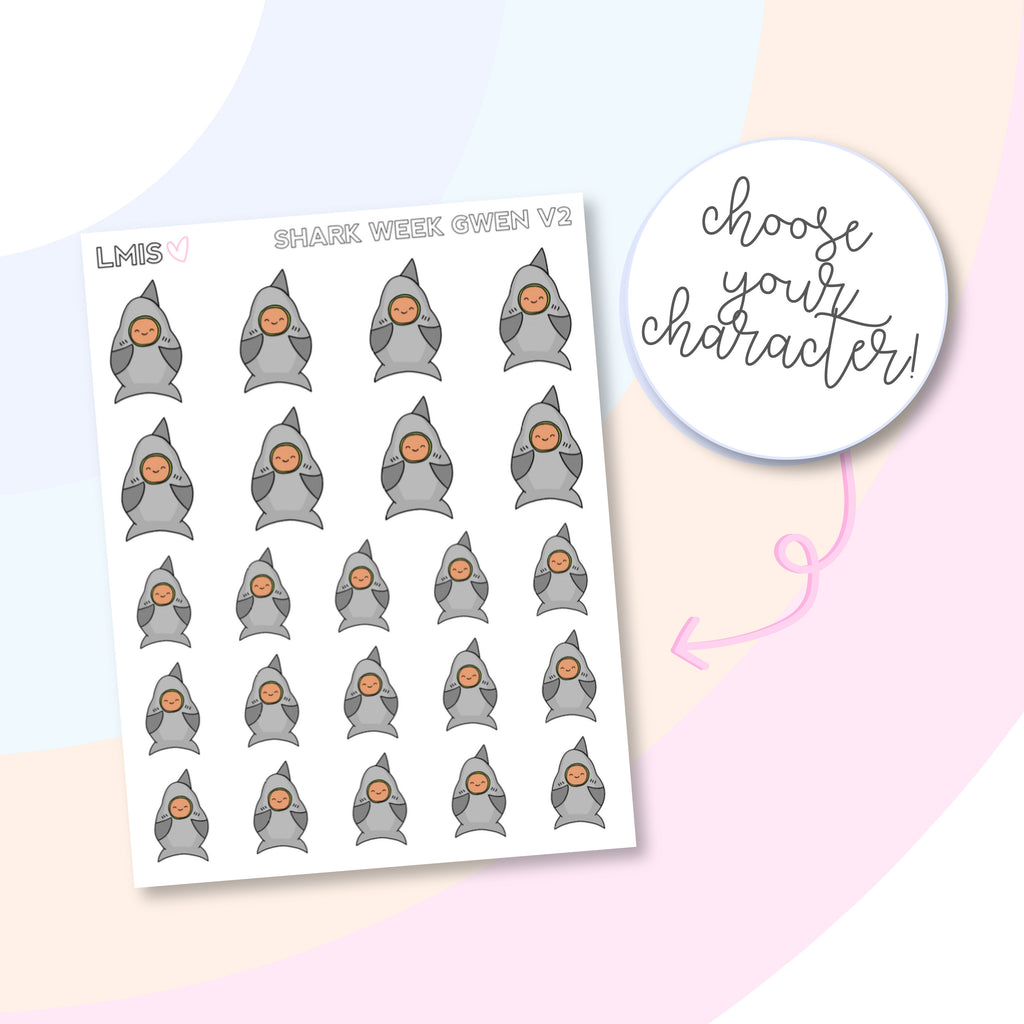 Shark Week V2 AvoBabes Planner Stickers - Grab these stickers for your planner and let's get to it! - Let's Make It Sparkle