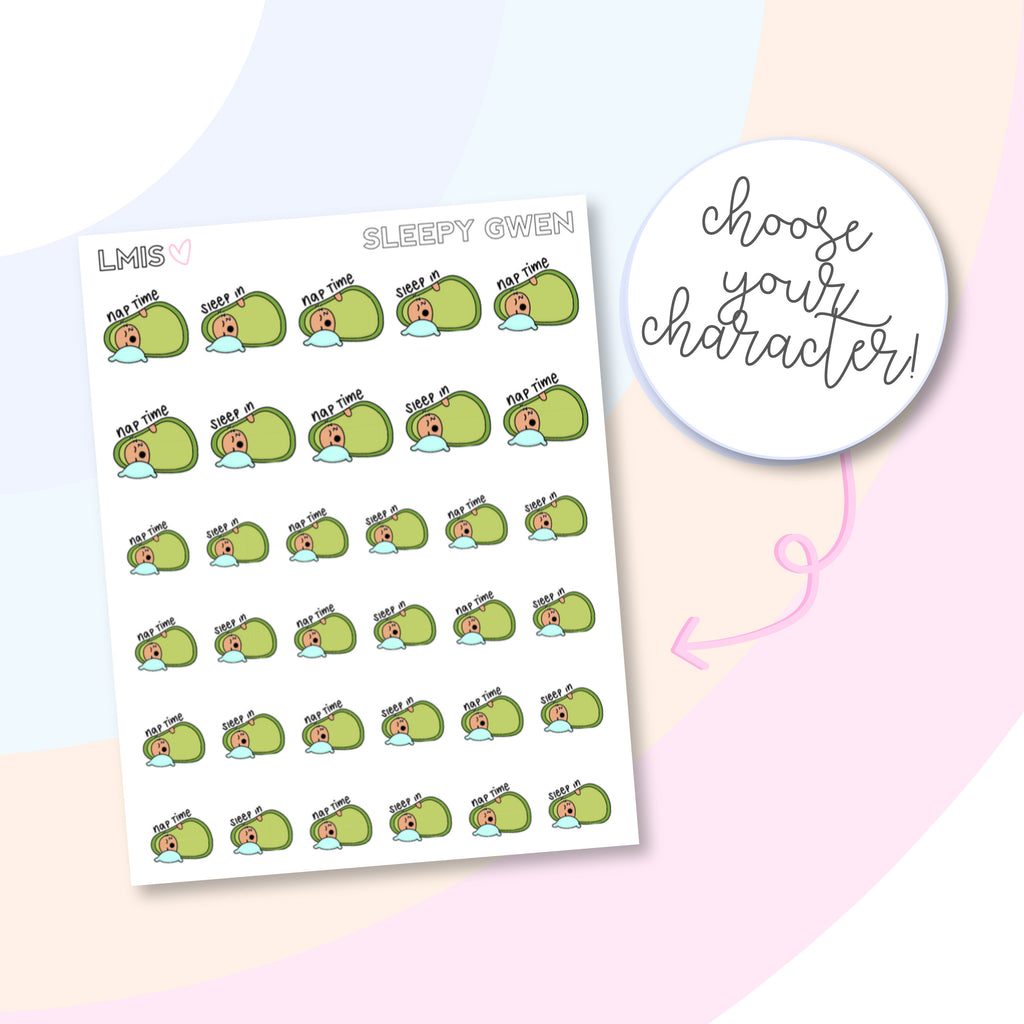 Sleepy AvoBabes Planner Stickers, Avocado Planner Stickers - Grab these stickers for your planner and let's get to it! - Let's Make It Sparkle