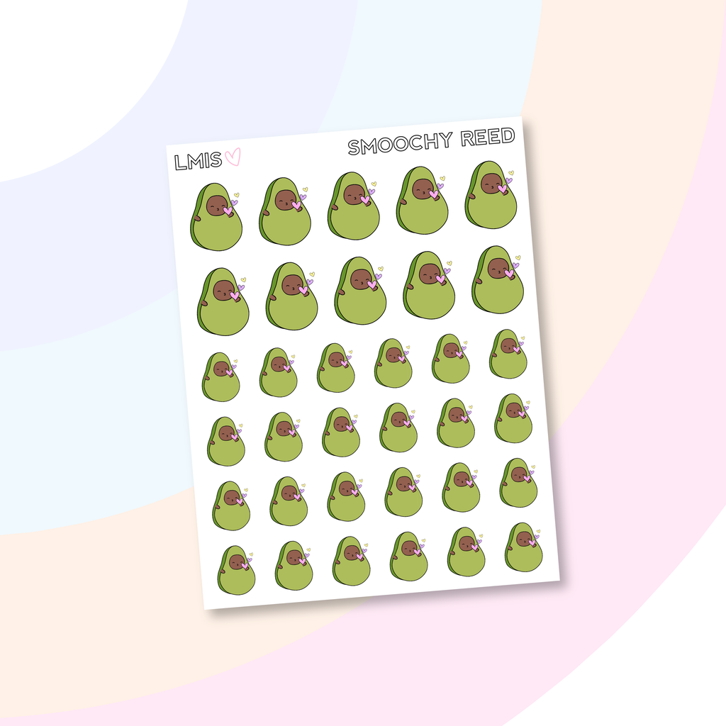Smoochy AvoBabe Planner Stickers, AvoBabe Stickers // Valentine Stickers