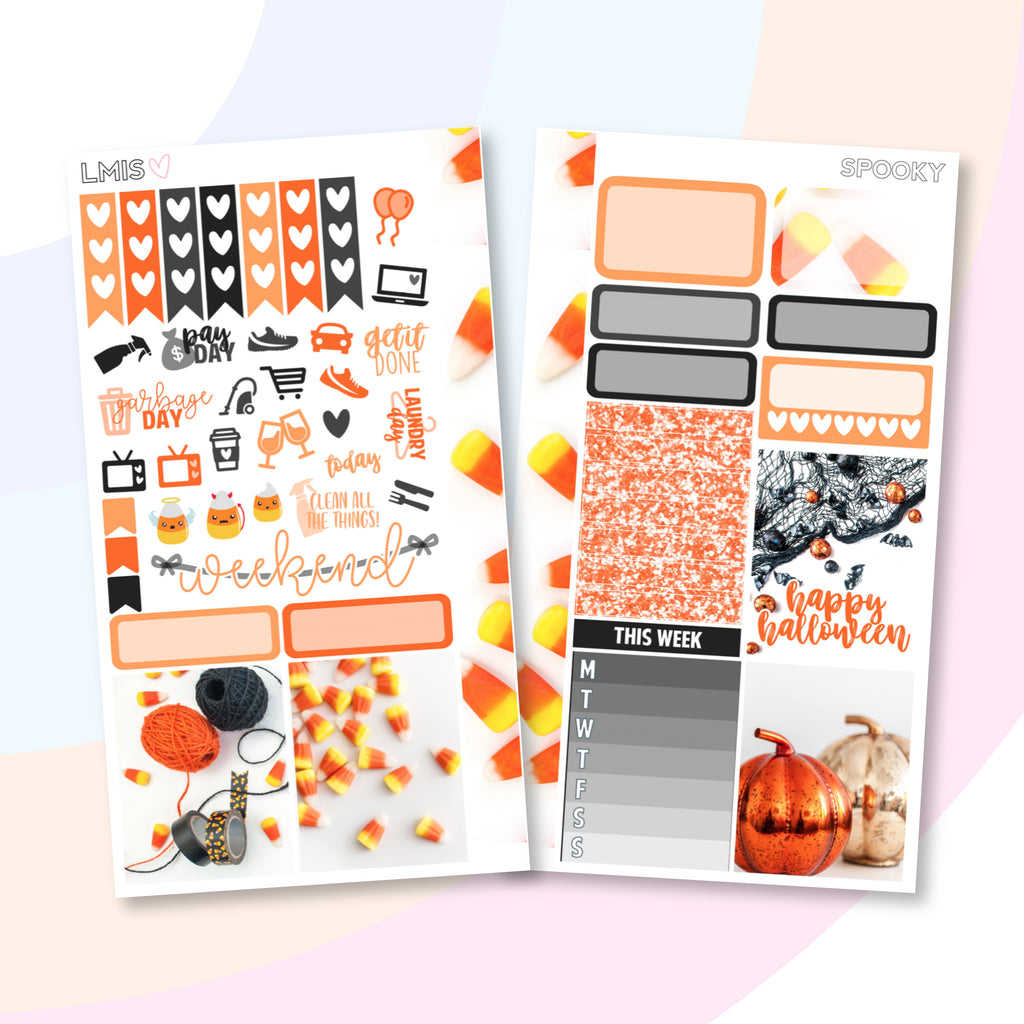 Spooky Personal Planner Sticker Kit for Traveler's Notebooks, TNs and Personal Planners, Halloween Personal Sticker Kit, Autumn Stickers - Grab these stickers for your planner and let's get to it! - Let's Make It Sparkle