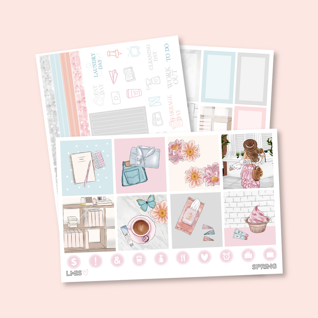 Spring Sticker Kit (Horizontal)