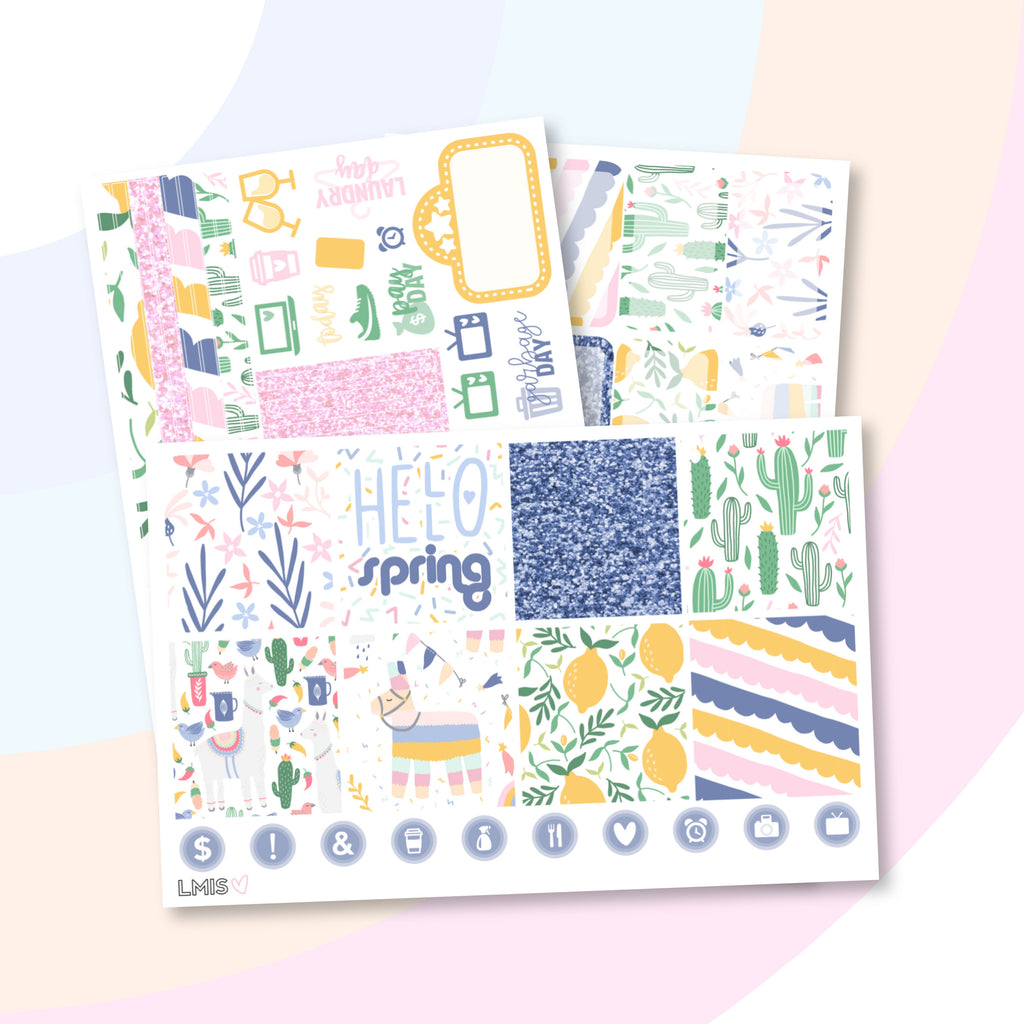 Spring Parade Planner Sticker Kit (Horizontal) - Grab these stickers for your planner and let's get to it! - Let's Make It Sparkle