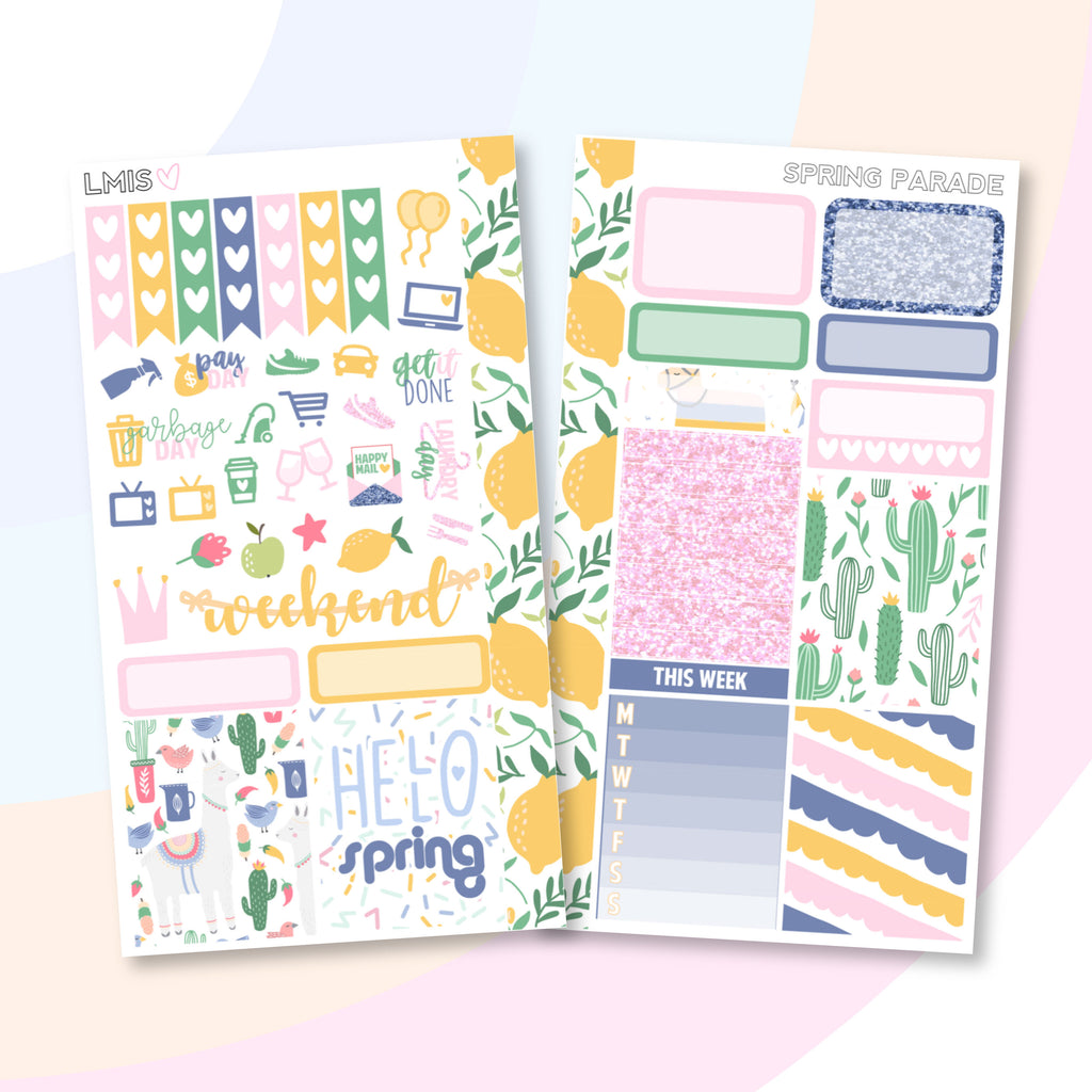 Spring Parade Personal Planner Sticker Kit - Grab these stickers for your planner and let's get to it! - Let's Make It Sparkle