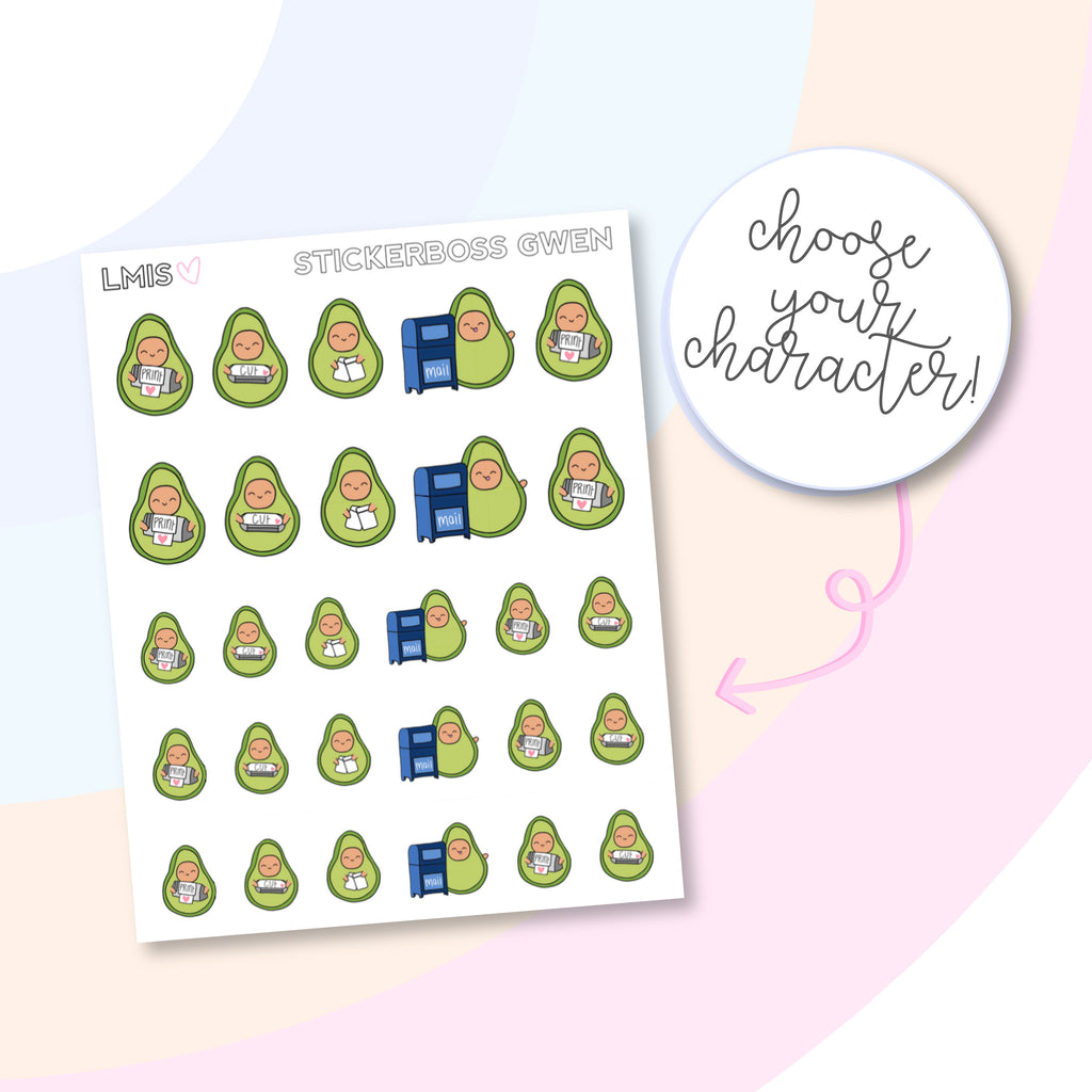 Stickerboss AvoBabes Planner Stickers, Avocado Planner Stickers - Grab these stickers for your planner and let's get to it! - Let's Make It Sparkle