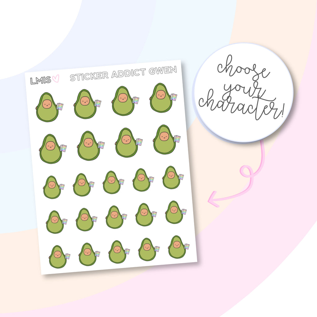 Sticker Addict AvoBabes Planner Stickers - Grab these stickers for your planner and let's get to it! - Let's Make It Sparkle