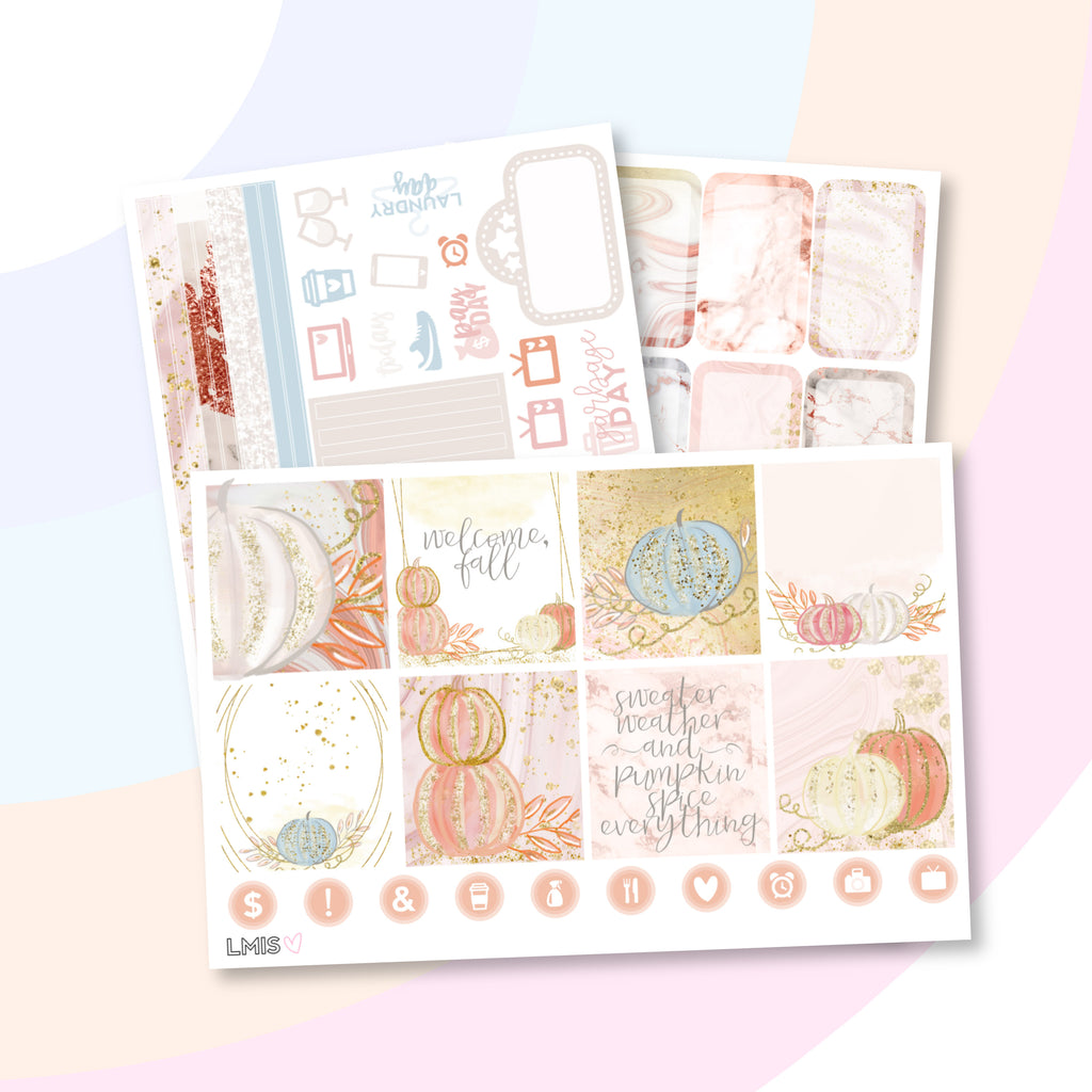 Sugar and Spice Planner Sticker Kit (Horizontal) // Autumn - Grab these stickers for your planner and let's get to it! - Let's Make It Sparkle