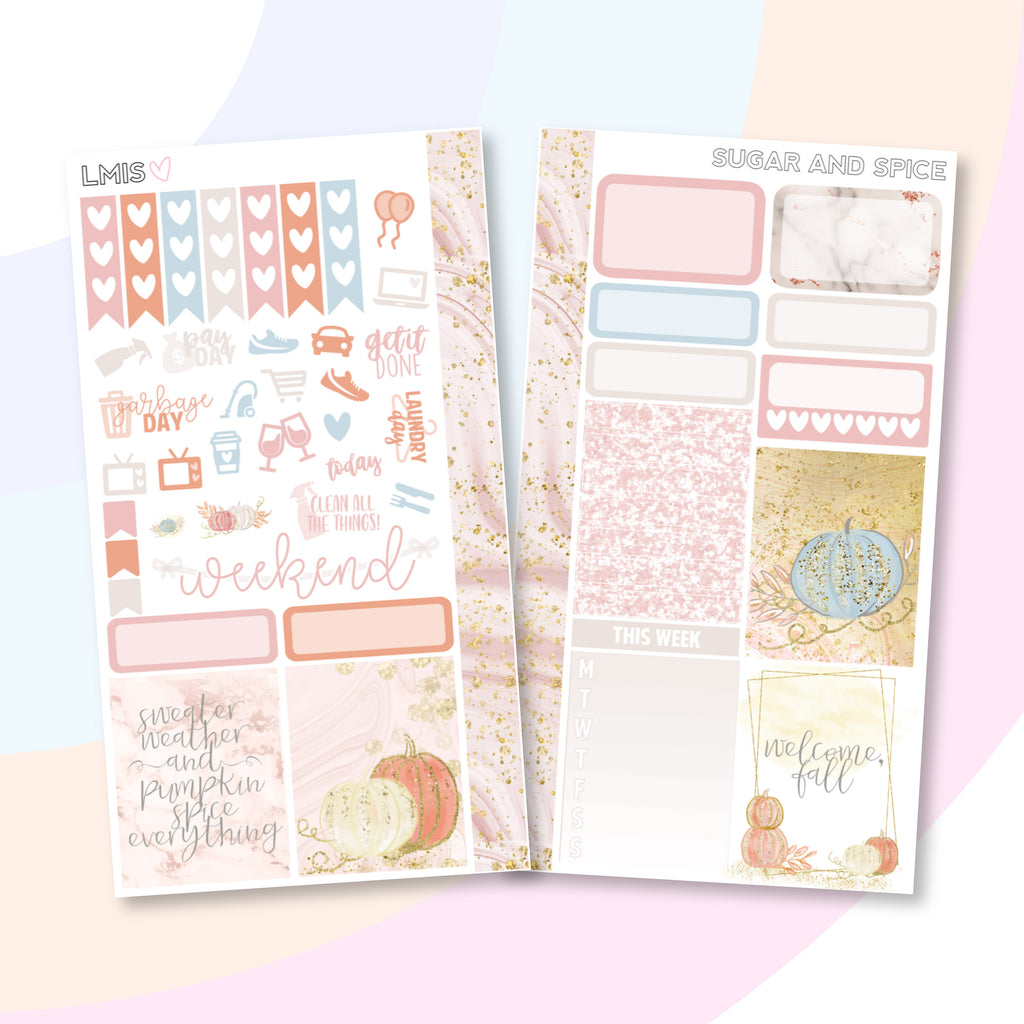 Sugar and Spice Personal Planner Sticker Kit for Traveler's Notebooks, TNs and Personal Planners, Autumn Personal Sticker Kit, Autumn Stickers - Grab these stickers for your planner and let's get to it! - Let's Make It Sparkle