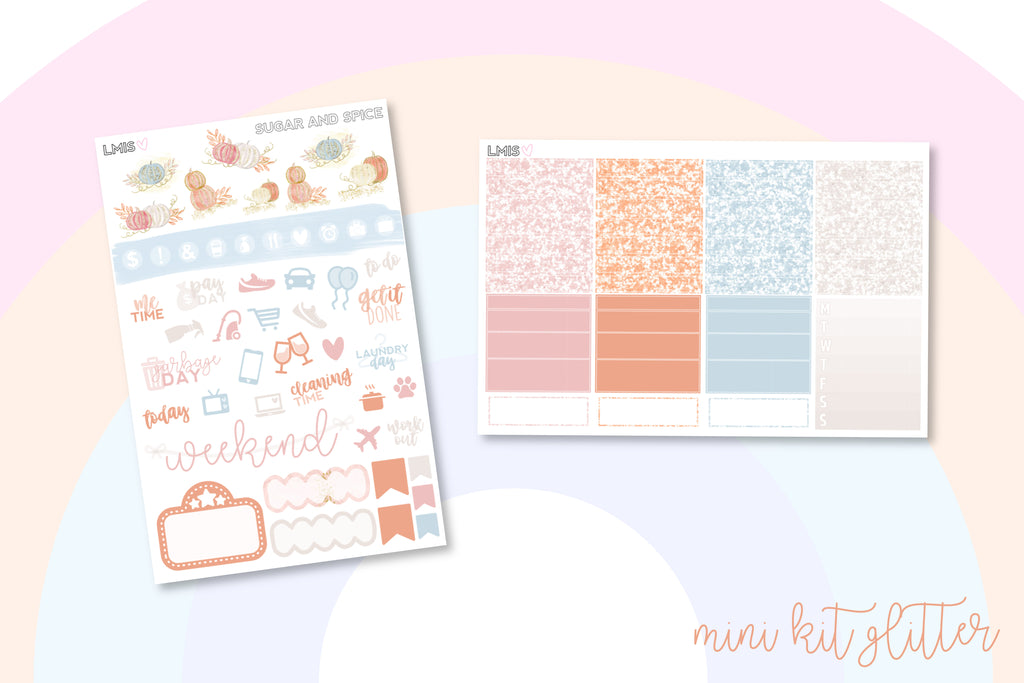 Sugar and Spice Vertical Planner Sticker Kit // Autumn Stickers - Grab these stickers for your planner and let's get to it! - Let's Make It Sparkle