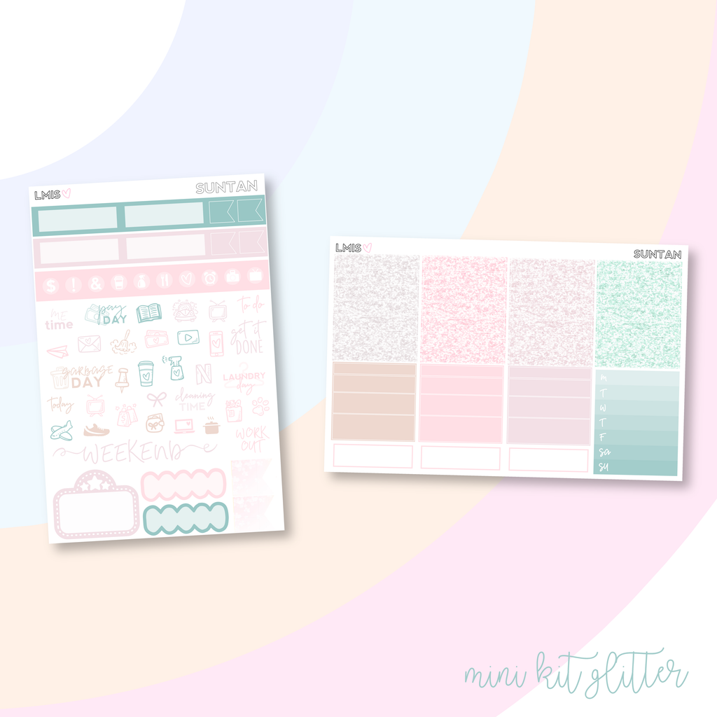 Suntan Vertical Planner Sticker Kit
