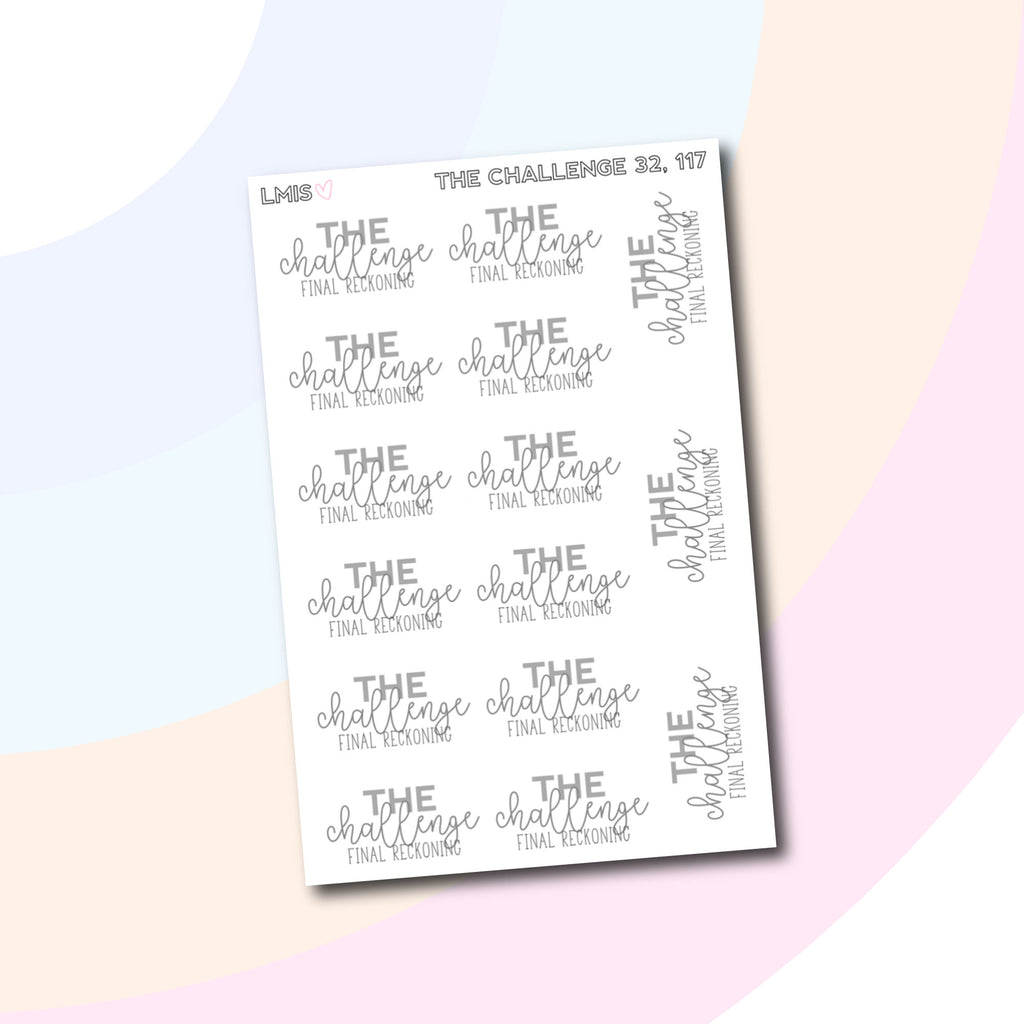The Challenge Final Reckoning TV Stickers for Erin Condren, Happy Planner, Personal Planners and Much More! // 117 - Grab these stickers for your planner and let's get to it! - Let's Make It Sparkle