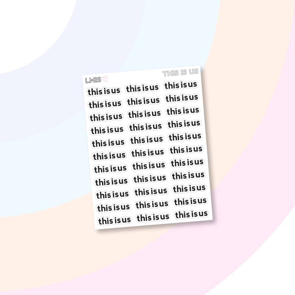 This Is Us TV Show Stickers - Grab these stickers for your planner and let's get to it! - Let's Make It Sparkle