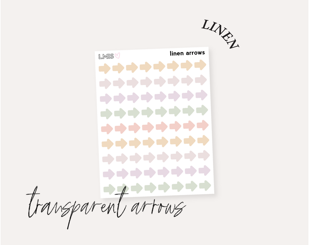 Linen Full Transparent Sticker Collection