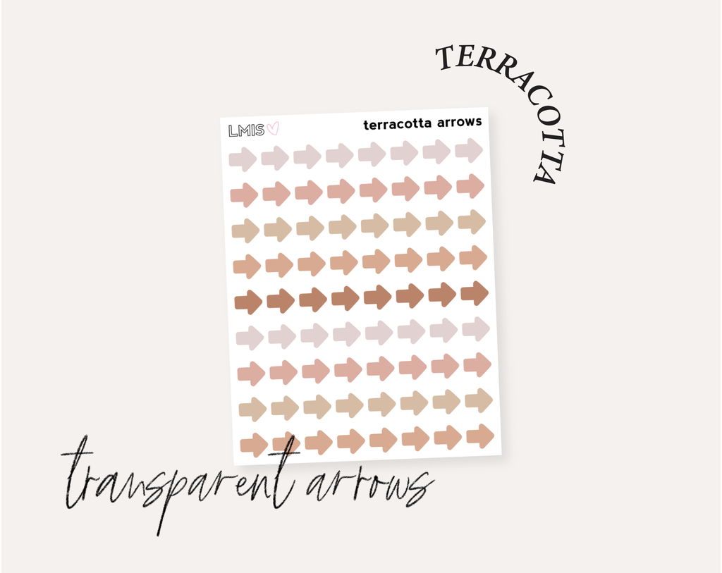 Terracotta Full Transparent Sticker Collection